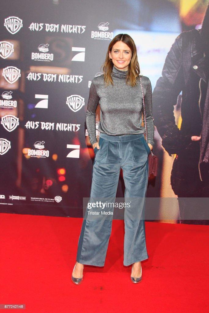 Model Eva Padberg attends the German premiere 'Aus dem Nichts' on November 21, 2017 in Hamburg, Germany.