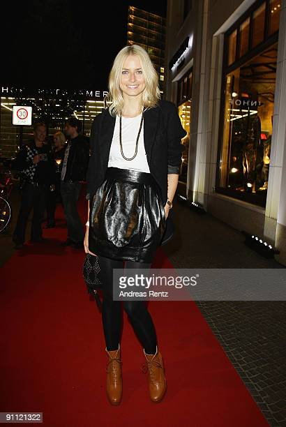 Model Eva Padberg attends the opening of fashion designer Michael Michalsky's Michalsky Gallery on September 24 2009 in Berlin Germany