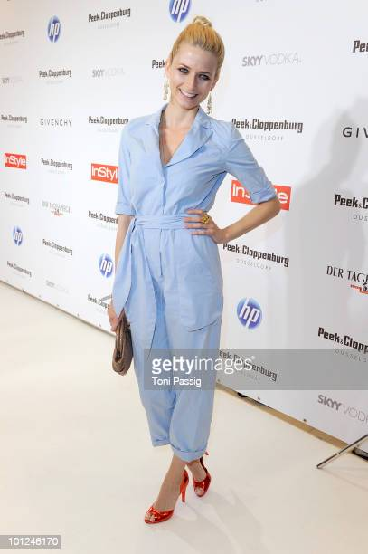 Model Eva Padberg attends the 'Sex And The City 2' movie night at the Peek Cloppenburg flagship store on May 28 2010 in Berlin Germany