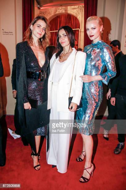 Model Eva Padberg Designer Anita Tillmann and Model Franziska Knuppe attend the GQ Men of the year Award 2017 after show party at Komische Oper on...