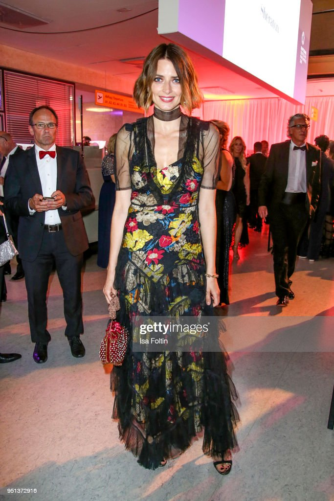 Model Eva Padberg during the after show party of Duftstars at Flughafen Tempelhof on April 25, 2018 in Berlin, Germany.