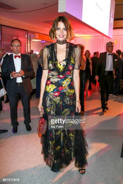 Model Eva Padberg during the after show party of Duftstars at Flughafen Tempelhof on April 25 2018 in Berlin Germany