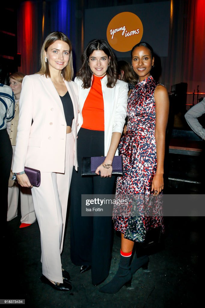 Model Eva Padberg, Model Marie Nasemann and Model Sara Nuru attend the Young ICONs Award in cooperation with ICONIST at BRLO Brwhouse on February 14, 2018 in Berlin, Germany.