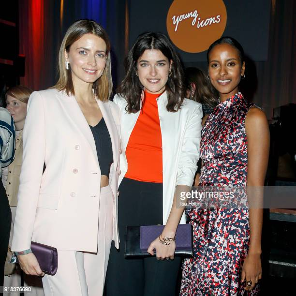 Model Eva Padberg Model Marie Nasemann and Model Sara Nuru attend the Young ICONs Award in cooperation with ICONIST at BRLO Brwhouse on February 14...