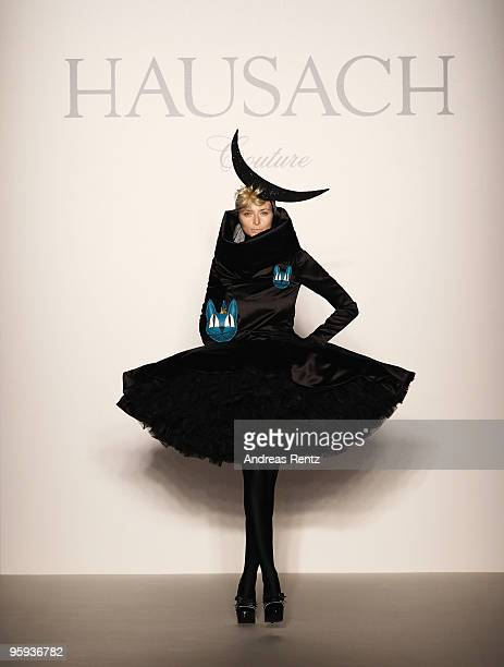 Model Eva Padberg walks the runway at the Hausach Couture Fashion Show during the MercedesBenz Fashion Week Berlin Autumn/Winter 2010 at the...