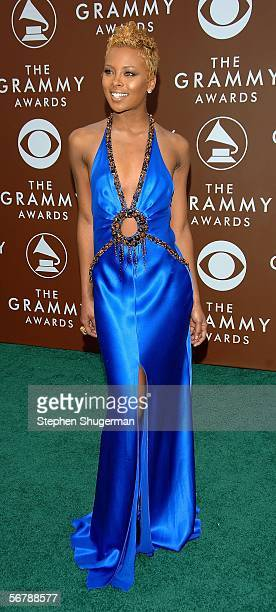 Model Eva Pigford arrives at the 48th Annual Grammy Awards at the Staples Center on February 8 2006 in Los Angeles California