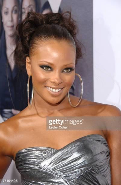 Model Eva Pigford arrives to the premiere of Why Did I Get Married at the Cinerama Dome on October 14 2007 in Hollywood California