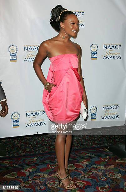 Model Eva Pigford attends the 18th Annual NAACP Theater Awards at the Kodak Theater on June 30 2008 in Hollywood California