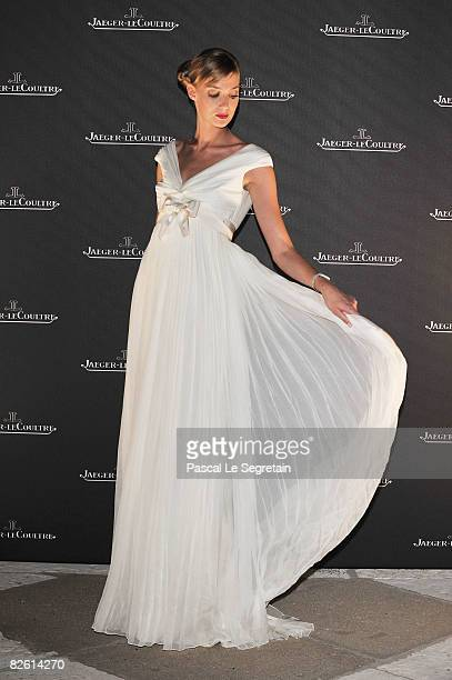 Model Eva Riccobono arrives at the Jaeger dinner at the Fondazione Cini during the 65th Venice Film Festival at Hotel Des Baines on August 31, 2008...