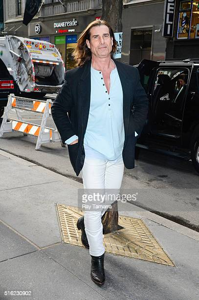 Model Fabio Lanzoni enters the 'Today Show' taping at the NBC Rockefeller Center Studio on March 17 2016 in New York City