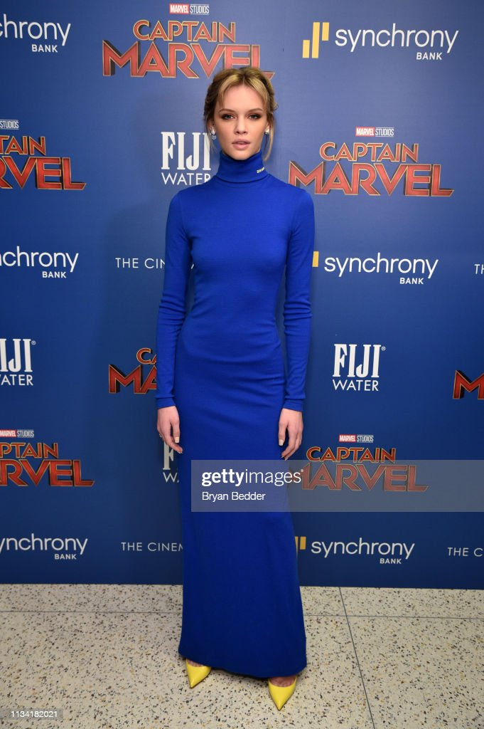 FIJI Water With The Cinema Society Host A Special Screening Of 'Captain Marvel' : News Photo