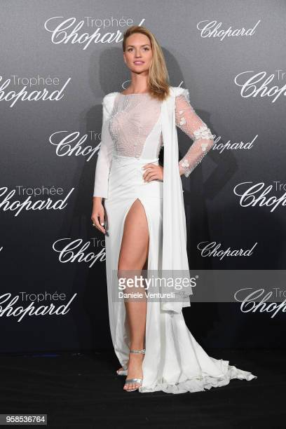 Model Fancy Alexandersson attends the Chopard Trophy during the 71st annual Cannes Film Festival at Martinez Hotel on May 14 2018 in Cannes France