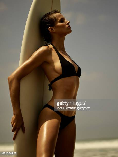 Model Fanny Francois poses at a beauty shoot for Madame Figaro on June 12 2017 in Spain Bikini Surfboard PUBLISHED IMAGE CREDIT MUST READ Jonas...