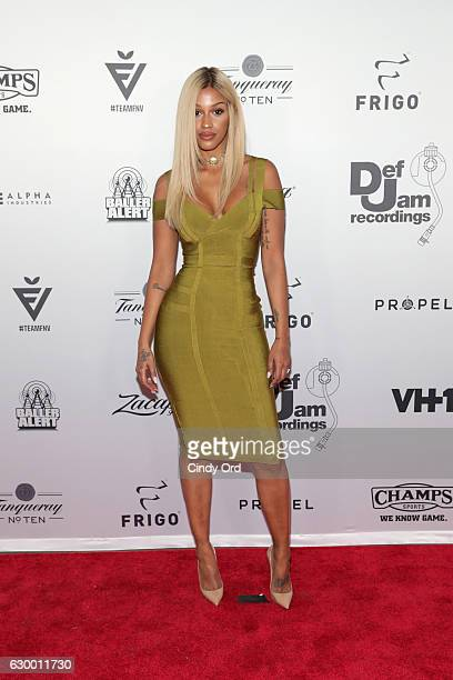 Model Fanny Neguesha attends The 2016 Def Jam Holiday Party sponsored by VH1 The Breaks Champs Sports Tanqueray 10 Zacapa Rum at Spring Place on...