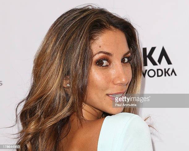 Model / Fashion Designer Leilani Dowding attends the Genlux Magazine release party at Sofitel Hotel on August 29 2013 in Los Angeles California