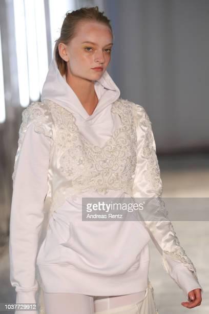 A model fashion detail walks the runway at the AF Vandevorst show during Milan Fashion Week Spring/Summer 2019 on September 22 2018 in Milan Italy