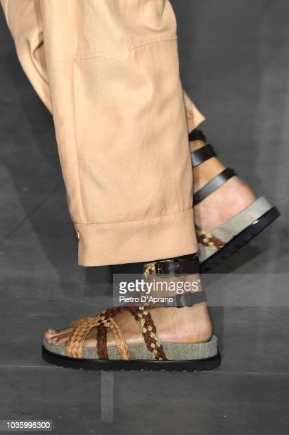 A model fashion detail walks the runway at the Alberta Ferretti show during Milan Fashion Week Spring/Summer 2019 on September 19 2018 in Milan Italy