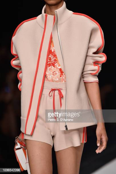A model fashion detail walks the runway at the Anteprima show during Milan Fashion Week SS 2019 on September 20 2018 in Milan Italy