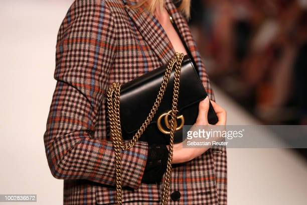 A model fashion detail walks the runway at the Breuninger show during Platform Fashion July 2018 at Areal Boehler on July 20 2018 in Duesseldorf...