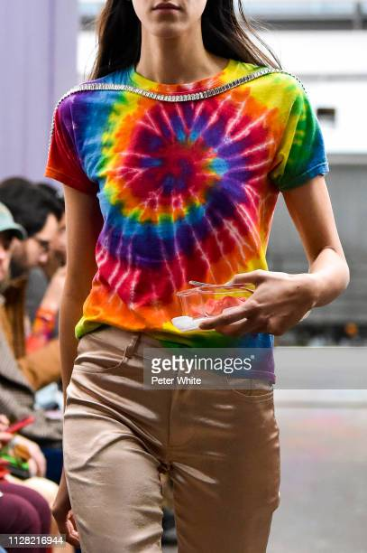 A model fashion detail walks the runway at the Collina Strada fashion show during New York Fashion Week on February 07 2019 in New York City