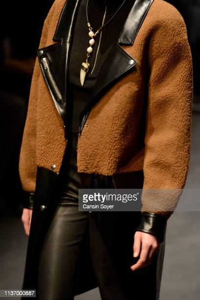 A model fashion detail walks the runway at the House Of Ogan show during MercedesBenz Istanbul Fashion Week at the Zorlu Performance Hall on March 20...