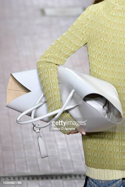 A model fashion detail walks the runway at the Jil Sander show during Milan Fashion Week Spring/Summer 2019 on September 19 2018 in Milan Italy