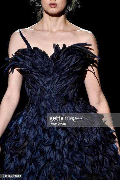 A model fashion detail walks the runway at the Marc Jacobs fashion show during New York Fashion Week on February 13 2019 in New York City