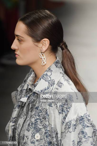 A model fashion detail walks the runway at the Marco Rambaldi show during the Milan Fashion Week Spring/Summer 2020 on September 18 2019 in Milan...