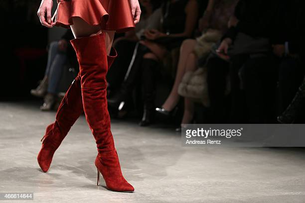 Model fashion detail walks the runway at the Osgur Masur show during Mercedes Benz Fashion Week Istanbul FW15 on March 17 2015 in Istanbul Turkey