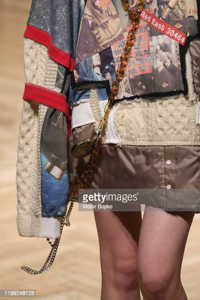 A model fashion detail walks the runway at the Reshake fashion show on January 13 2020 in Milan Italy
