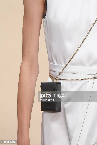 Model, fashion detail, walks the runway at the Tod's show during the Milan Fashion Week Spring/Summer 2020 on September 20, 2019 in Milan, Italy.
