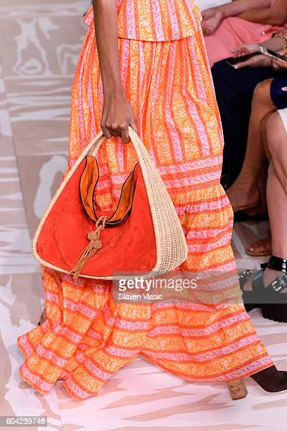 A model fashion detail walks the runway at the Tory Burch fashion show during New York Fashion Week at The Whitney Museum of American Art on...