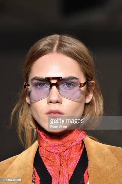 Model, fashion detail, walks the runway at the Zadig & Voltaire Ready to Wear Fall/Winter 2020-2021 fashion show during New York Fashion Week on...