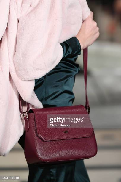 A model fashion detail walks the runway during the Anja Gockel fashion show at Hotel Adlon on January 16 2018 in Berlin Germany