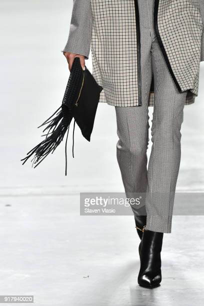 A model fashion detail walks the runway during the Carlisle Fall/Winter 2018 Runway Show during New York Fashion Week at Pier 59 Studios on February...