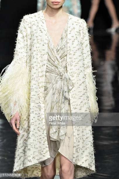 A model fashion detail walks the runway during the Celia Kritharioti Spring Summer 2019 show as part of Paris Fashion Week on January 22 2019 in...