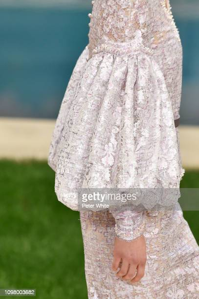 A model fashion detail walks the runway during the Chanel Spring Summer 2019 show as part of Paris Fashion Week on January 22 2019 in Paris France