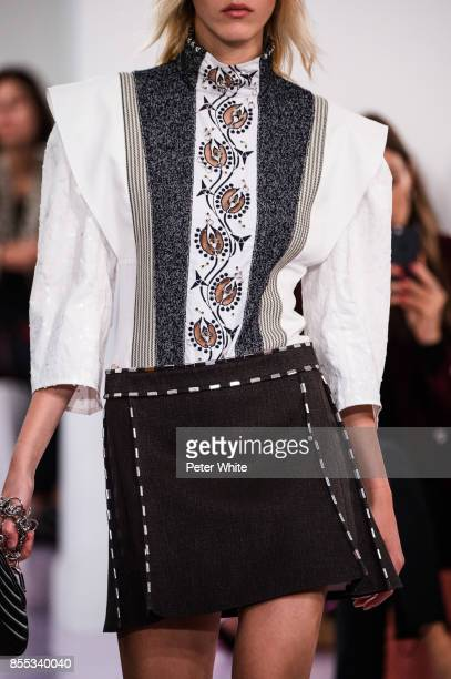 A model fashion detail walks the runway during the Chloe show as part of the Paris Fashion Week Womenswear Spring/Summer 2018 on September 28 2017 in...