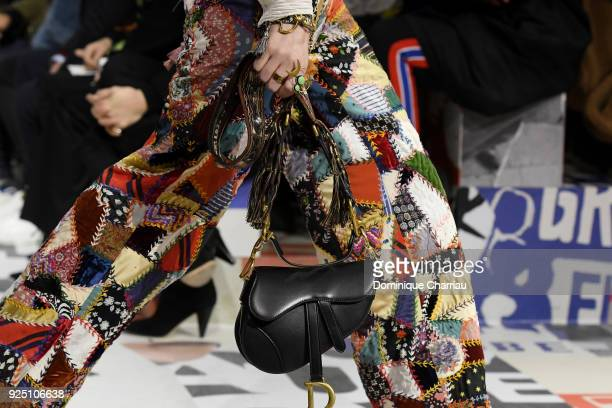 A model fashion detail walks the runway during the Christian Dior show as part of the Paris Fashion Week Womenswear Fall/Winter 2018/2019 on February...