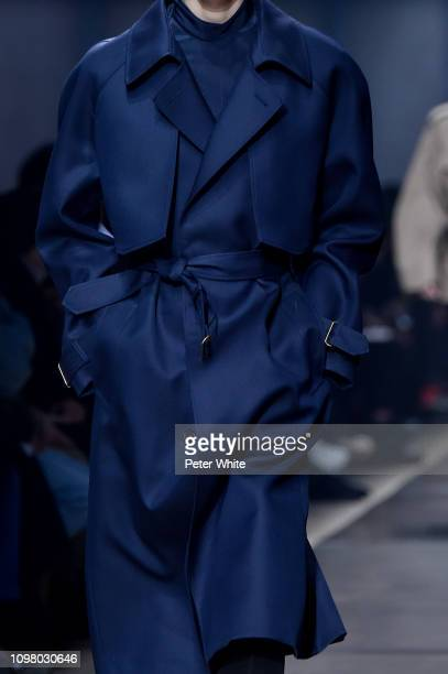 Model, fashion detail, walks the runway during the Dunhill London Menswear Fall/Winter 2019-2020 show as part of Paris Fashion Week on January 20,...