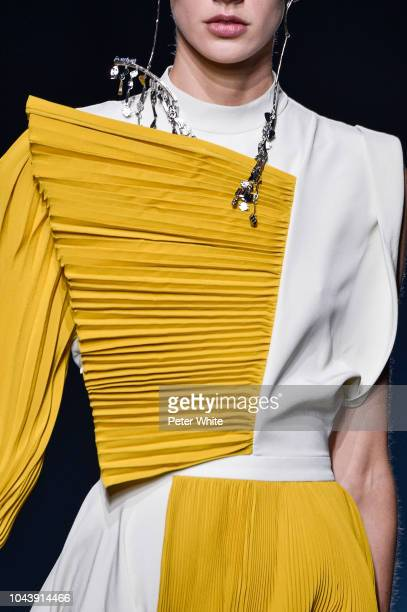 A model fashion detail walks the runway during the Givenchy show as part of the Paris Fashion Week Womenswear Spring/Summer 2019 on September 30 2018...