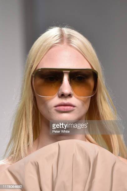 Model, fashion detail, walks the runway during the Givenchy Womenswear Spring/Summer 2020 show as part of Paris Fashion Week on September 29, 2019 in...