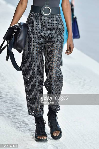 A model fashion detail walks the runway during the Hermes show as part of the Paris Fashion Week Womenswear Spring/Summer 2019 on September 29 2018...