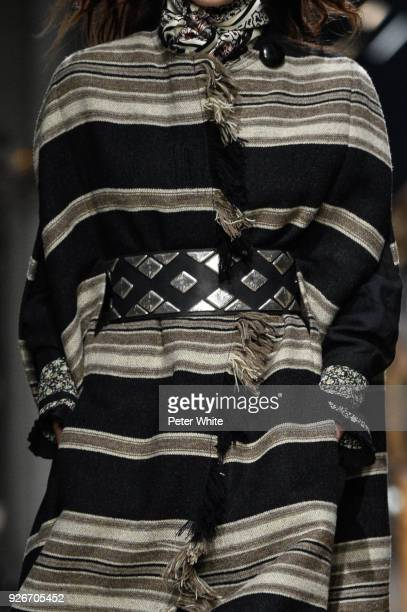 A model fashion detail walks the runway during the Isabel Marant show as part of the Paris Fashion Week Womenswear Fall/Winter 2018/2019 on March 1...
