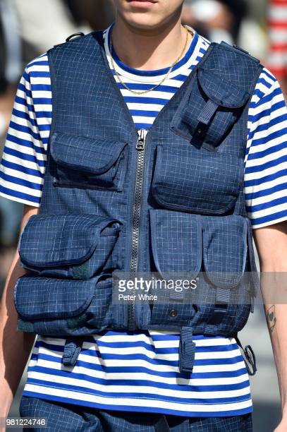 A model fashion detail walks the runway during the Junya Watanabe Man Menswear Spring/Summer 2019 show as part of Paris Fashion Week on June 22 2018...