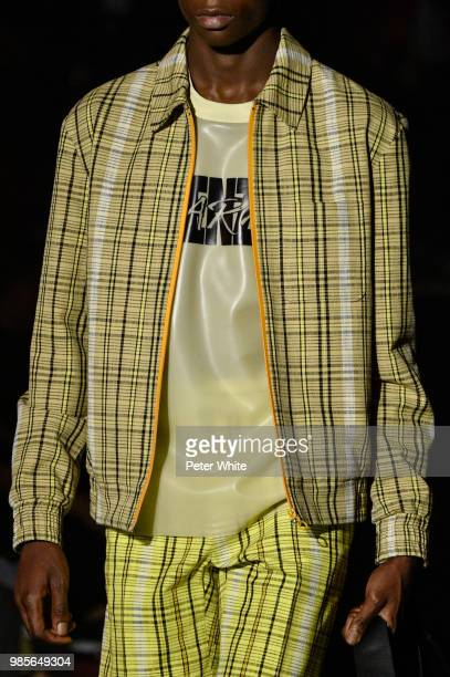 A model fashion detail walks the runway during the Kenzo Menswear Spring/Summer 2019 show as part of Paris Fashion Week on June 24 2018 in Paris...