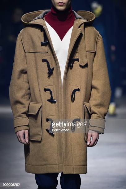 Model, fashion detail, walks the runway during the Kenzo Menswear Fall/Winter 2018-2019 show as part of Paris Fashion Week on January 21, 2018 in...