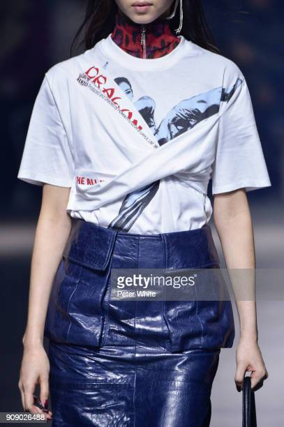 A model fashion detail walks the runway during the Kenzo Menswear Fall/Winter 20182019 show as part of Paris Fashion Week on January 21 2018 in Paris...