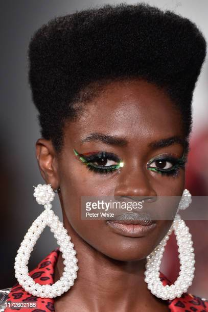 A model fashion detail walks the runway during the Laurence Chico SS 2020 fashion show during New York fashion Week September 2019 The Shows at Pier...