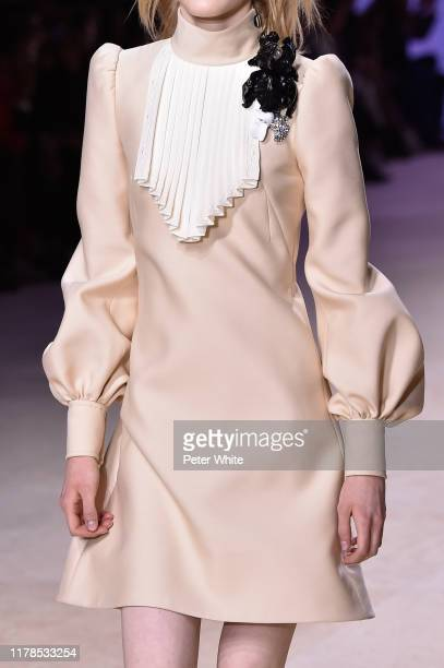 Model, fashion detail, walks the runway during the Louis Vuitton Womenswear Spring/Summer 2020 show as part of Paris Fashion Week on October 01, 2019...